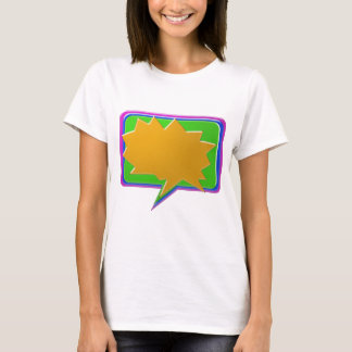 TALK Bubble : Add text or image Editable Template T-Shirt