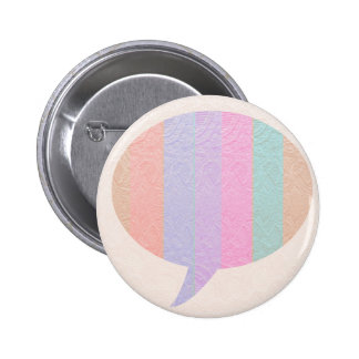 TALK Bubble :  Buy Blank or add Greeting Text Pinback Button