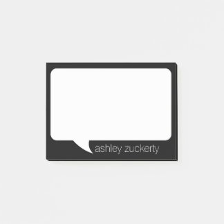 Talk Bubble Custom Name and PICK background color Post-it Notes