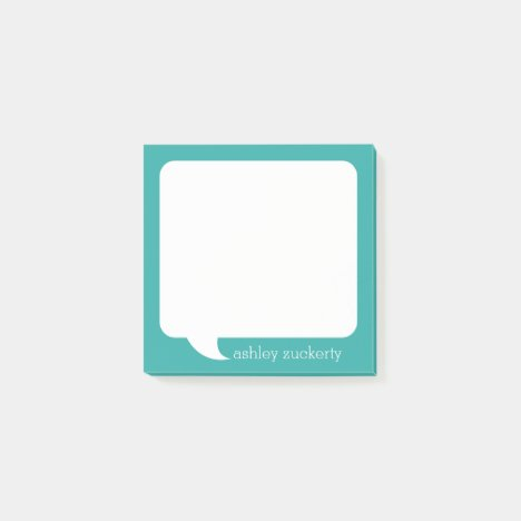 Talk Bubble Personalized Name - CAN EDIT COLOR Post-it Notes