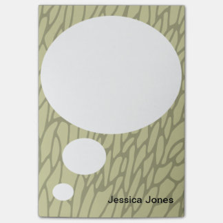 Talk Bubble Rounded Personalize Light Green Custom Post-it® Notes