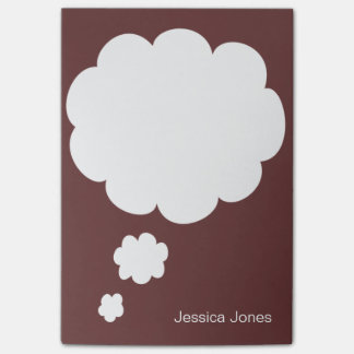 Talk Bubble Rounded Personalized Brown Custom Post-it® Notes