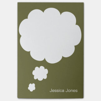 Talk Bubble Rounded Personalized Green Custom Post-it® Notes