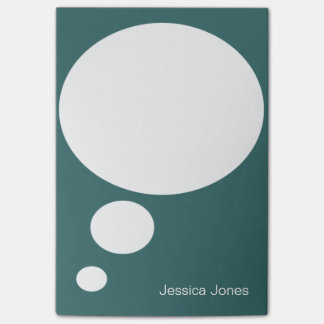 Talk Bubble Rounded Personalized Sea Green Custom Post-it® Notes
