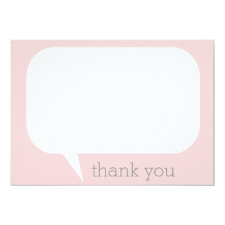 Talk Bubble Thank You Notes Card