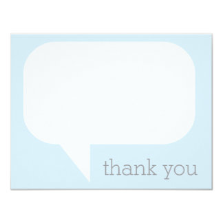 Talk Bubble Thank You Notes 4.25x5.5 Paper Invitation Card