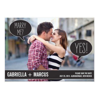 Talk Bubbles Wedding Save The Date Engagement Cards