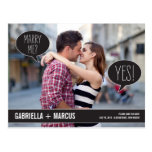 Talk Bubbles Wedding Save The Date Postcard
