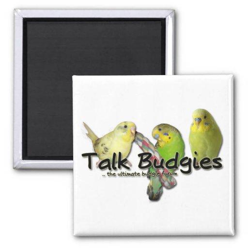Talk Budgies v3 2 Inch Square Magnet