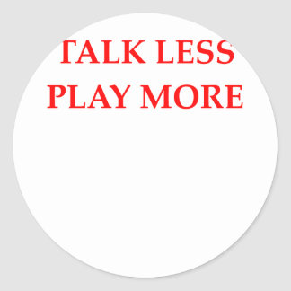 TALK CLASSIC ROUND STICKER