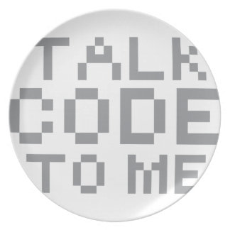 TALK CODE TO ME DINNER PLATE