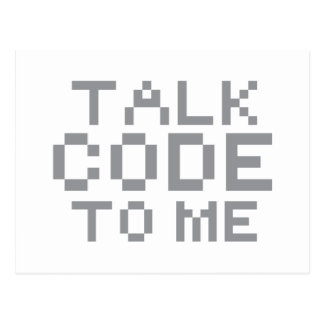 TALK CODE TO ME POSTCARD
