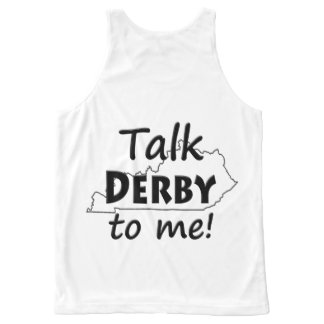 Talk Derby to me | Derby Horse Race Ky Fun All-Over-Print Tank Top