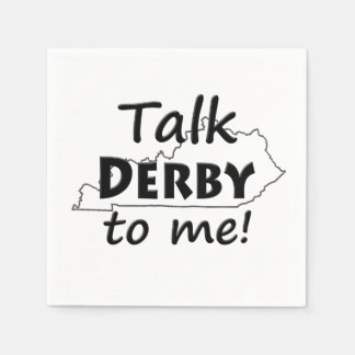 Talk Derby to me   Derby Horse Race Party Napkin