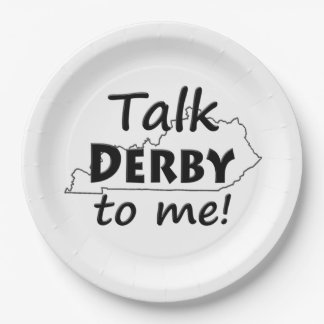 Talk Derby to me   Derby Horse Race Party Paper Plate