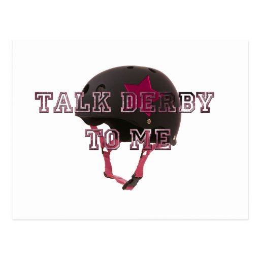 Talk Derby To Me Post Card