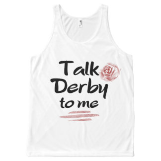 Talk Derby to me Red Rose Watercolor All-Over Print Tank Top