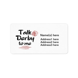 Talk Derby to me Red Rose Watercolor Label