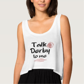 Talk Derby to me Red Rose Watercolor Tank Top
