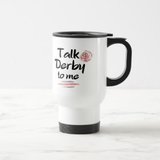 Talk Derby to me Red Rose Watercolor Travel Mug