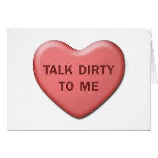 """Talk Dirty To Me"" Valentine Card"
