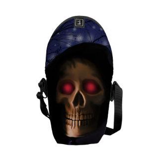 Talk eye skull messenger bag