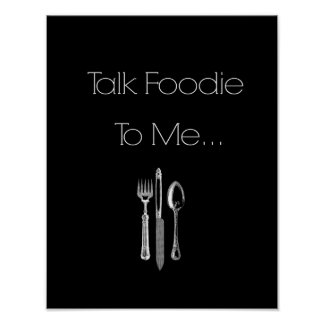 Talk Foodie to Me- Kitchen Wall Art