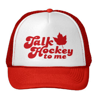 Talk Hockey To Me Trucker Hat