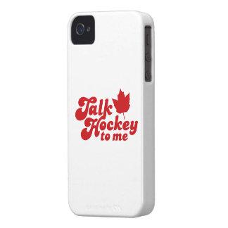 Talk Hockey To Me iPhone 4 Case