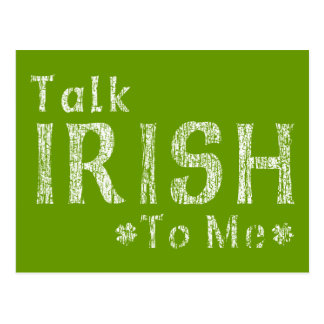 Talk Irish To Me Postcard