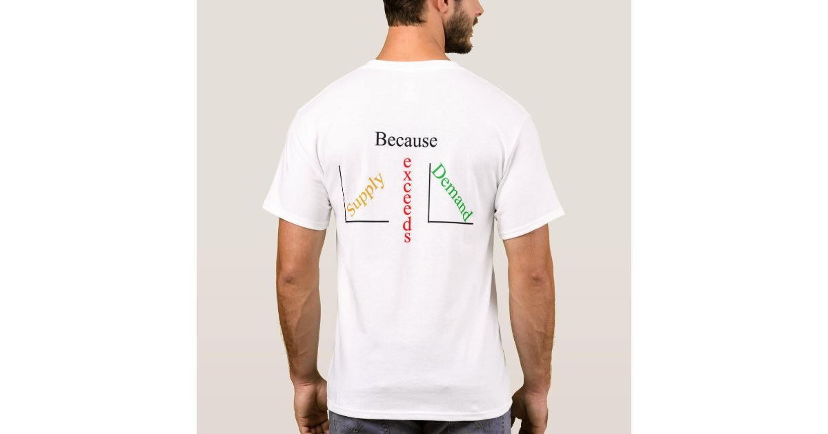 Talk is cheap because supply exceeds demand t shirt zazzle for T shirt on demand