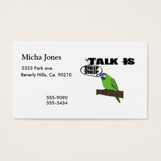 Talk Is Cheep Cheep Business Card