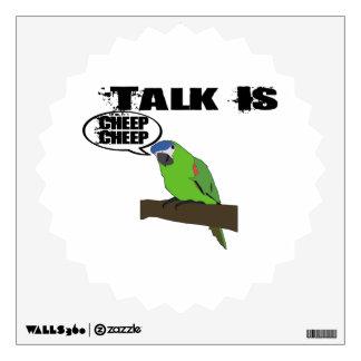 Talk Is Cheep Cheep Wall Sticker