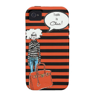 Talk is Chic Case Vibe iPhone 4 Covers