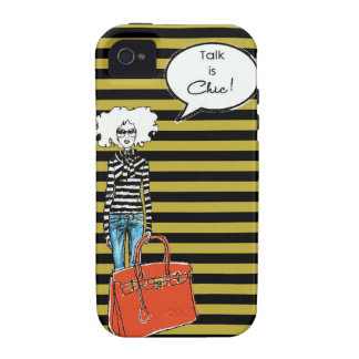 Talk is Chic Fashion Girl iPhone 4 Cases