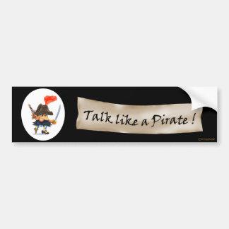 Talk like a Pirate Car Bumper Sticker