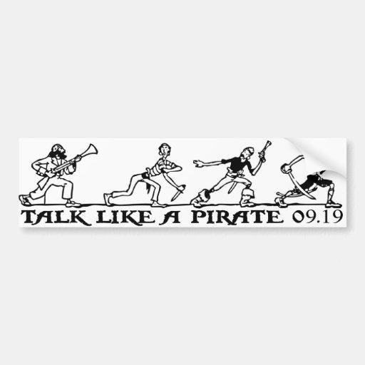 talk like a pirate bumper sticker