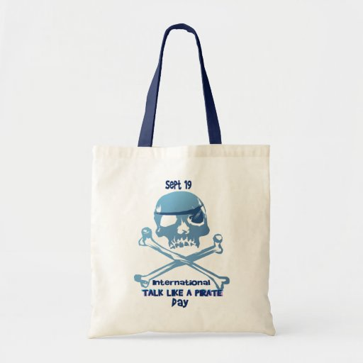 Talk Like A Pirate Crossbones Bags