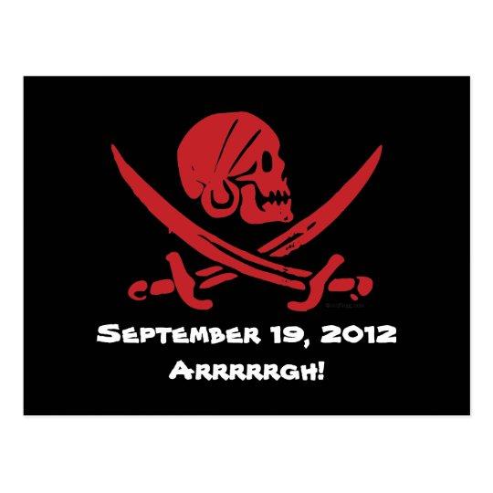 Talk Like A Pirate Day 2012 Postcard