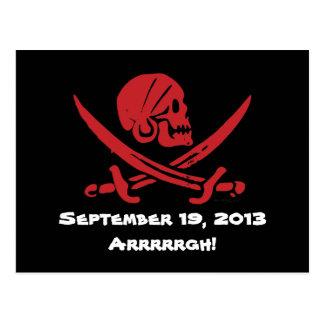 Talk Like A Pirate Day 2013 Postcard