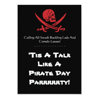 Talk Like A Pirate Day Custom Invitations