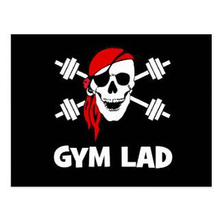 Talk Like A Pirate Day Gym Lad Postcard