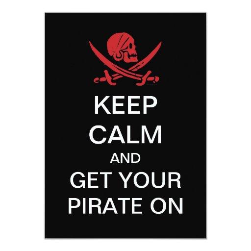 "Talk Like A Pirate Day Party Invitations 5"" X 7"" Invitation Card"