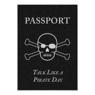 talk like a pirate day passport card