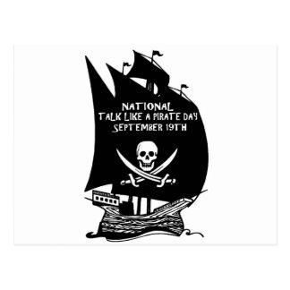 Talk Like A Pirate Day Ship Postcard