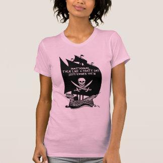 Talk Like A Pirate Day Ship Tee Shirt