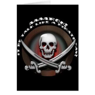 Talk Like A Pirate Day - Skull & Cross Swords Card