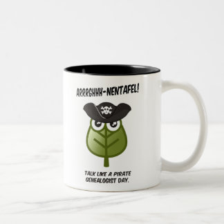 Talk Like A Pirate Genealogist Day Two-Tone Coffee Mug