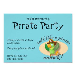 Talk Like A Pirate Parrot Card
