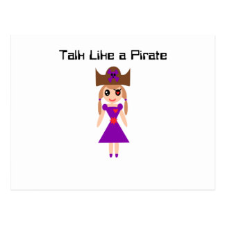 Talk Like a Pirate Postcard